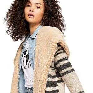 Free People Sweetest Thing Sweater Coat